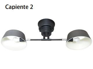 ELUX/エルックス LC10909-VS 2灯シーリングライト カピエンテ2 (ヴィンテージシルバー)※電球別売