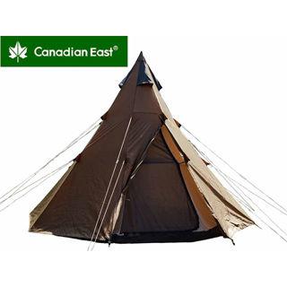 Canadian East/カナディアンイースト CETN2002 カナディアンイースト グリーンレーベル ワンポールテント 300 【4人用】(チョコレート)