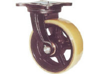 YODONO/ヨドノ 【代引不可】鋳物重量用キャスター 許容荷重1225 取付穴径15mm MUHA-MG250X90