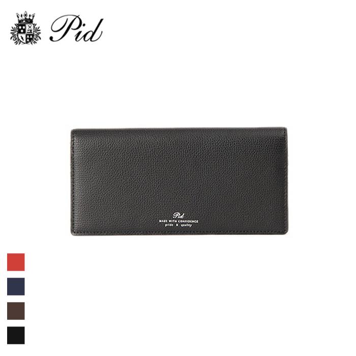 PID/ピー・アイ・ディー PAW1005 イタリアンレザー 二つ折り 長財布(ブラック)