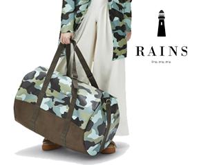 RAINS/レインズ 本格防水■レインバッグ/トラベルダッフルバッグ【SeaCamo】■AOP Travel Duffel 13007004