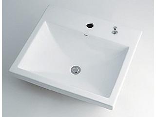 KAKUDAI/カクダイ 493-003H 角型洗面器 (1ホール・ポップアップ独立つまみタイプ)