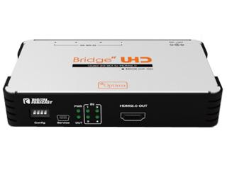 【納期にお時間がかかります】 エーディテクノ UHD_QSH 4K UHD対応 クワッド3G-SDI→HDMI 2.0コンバーター
