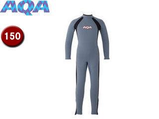 AQA/アクア KW4506A-5915 キッズフルスーツ 【150】 (スモークブルー×マットブラック)