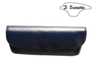 Il Bussetto/イルブセット Glasses case/メガネケース 【ネイビー】 (横) 眼鏡 ケース 革小物 牛革 ギフト プレゼント