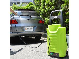 冬の汚れや車に付着した花粉などのお掃除に!どこでも使える充電式高圧洗浄機!