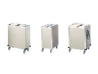 日本洗浄機 【代引不可】食器ディスペンサー カート型 保温式 CL21W4H サニストック
