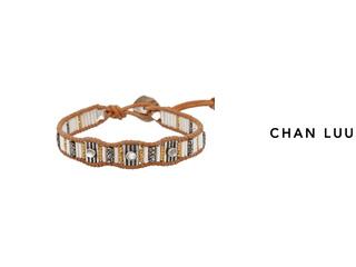 CHAN LUU/チャンルー ストーンビーズミックス 1連ブレスレット BS-5231(WHITE) チャンルーオリジナル巾着袋付き!