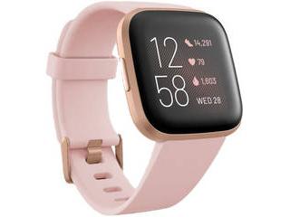 Fitbit フィットビット Fitbit Versa 2 Alexa搭載 スマートウォッチ Petal Pale/Cooper Rose L/S サイズ ピンク フィットネス用ウォッチ
