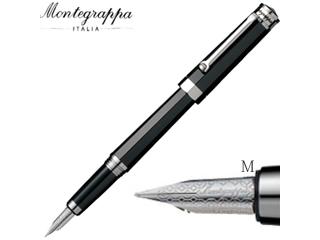 Montegrappa/モンテグラッパ 万年筆■ネロウーノ【ブラック】■18金ペン先 【M/中字】(ISNUC3AC)
