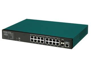 パナソニックESネットワークス 10/100/1000Mbps16ポート+SFP2スロット ギガスイッチイングハブ PN28160i Switch-M16eGi