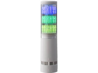 PATLITE/パトライト LA6型積層情報表示灯Φ60 直付け・端子台・ブザーあり LA63DTNWBRYG