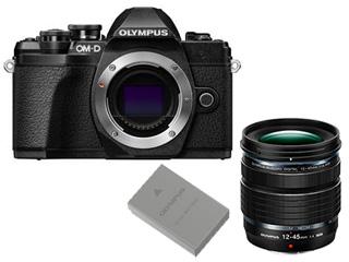 OLYMPUS/オリンパス OM-D E-M10 Mark III ボディー(ブラック)+12-45mm F4.0 PRO 標準ズームレンズ+BLS-50 充電池セット 【em10mk3set】