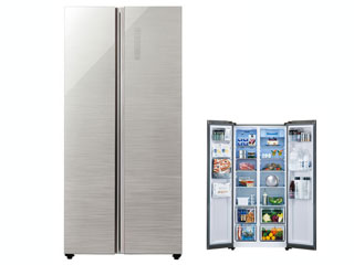 【標準配送設置無料!】 AQUA/アクア 【まごころ配送】AQR-SBS45H-S 冷蔵庫 【449L】(ヘアラインシルバー)
