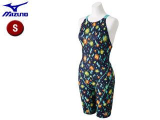 mizuno/ミズノ N2MG8752-83 ストリームアクティバ ハーフスーツ オープン レディース 【S】 (ネイビーブルーグリーン)