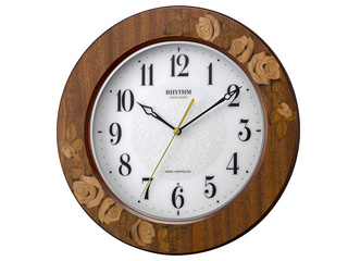 RHYTHM/リズム時計 8MY520SR06 電波掛け時計 アマービレM520