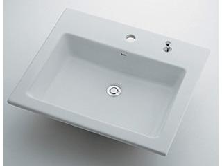 KAKUDAI/カクダイ 493-008H 角型洗面器 1ホール・ポップアップ独立つまみタイプ