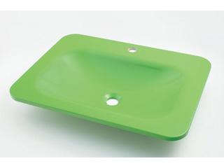 KAKUDAI/カクダイ #MR-493220GR 角型洗面器 (アップルグリーン)