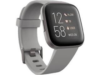 Fitbit フィットビット Fitbit Versa 2 Alexa搭載 スマートウォッチ Sandstone/Iron Mist L/S サイズ グレー FB507GYSR-FRCJK フィットネス用ウォッチ