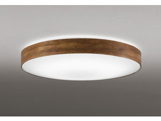 ODELIC/オーデリック OL291356BC LEDシーリングライト ウォールナット【~10畳】【Bluetooth 調光・調色】※リモコン別売
