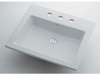 KAKUDAI/カクダイ 493-009 角型洗面器 3ホール