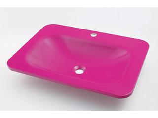 KAKUDAI/カクダイ #MR-493220P 角型洗面器 (パープルピンク)