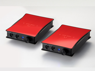 ORB/オーブ JADE next Ultimate bi power FitEar-Balanced(Ruby Red) ポータブルヘッドフォンアンプ 【同色2台1セット】【FitEarモデル(1.2m) Balancedタイプ(17cm)】