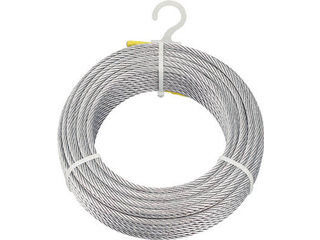TRUSCO/トラスコ中山 【代引不可】メッキ付ワイヤロープ Φ8mmX100m CWM-8S100