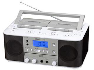 PIF/ピーアイエフ 【納期5月初旬以降】CCR-17W ダブルカセットDCラジオ 【DEAR LIFE】