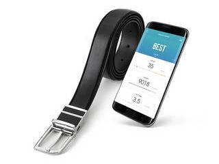 ・食べ過ぎ感知&アラーム AJAX AJAX ウェラブルスマートベルト WELT GL ウェルト ブラック WELTGLB01 ・ウエストサイズ計測 ・シンプルに健康管理