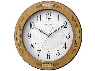 RHYTHM/リズム時計 8MY521SR06 電波掛け時計 アマービレM521