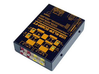 システムサコム工業 USBリレースイッチ(スイッチON/OFF)ユニット[同時動作2ch] USB-RLSW-2CMBP-FT