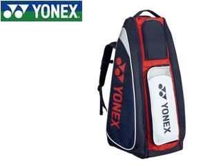 YONEX/ヨネックス BAG1819-97 スタンドバッグ リュック付 テニスラケット2本用 (ネイビー×レッド)