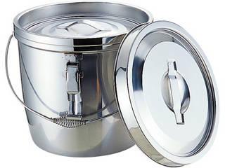 MT18-8二重汁食缶 クリップ付 ツル取手 10L