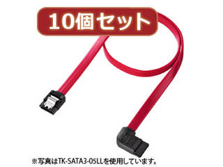 サンワサプライ 【10個セット】サンワサプライ 左L型シリアルATA3ケーブル TK-SATA3-07LLX10