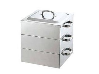 ※こちらは【水槽】のみの単品販売となります。 PE 18-8業務用角蒸器用水槽 39cm