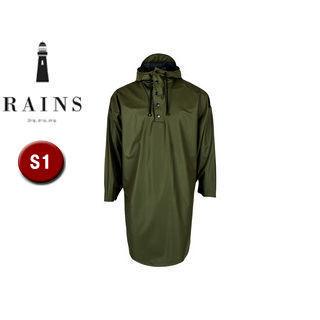 RAINS/レインズ ポンチョ レインポンチョ 【S1】 (グリーン) 防水 撥水 レインコート 雨 雪 男女兼用 雨具 合羽