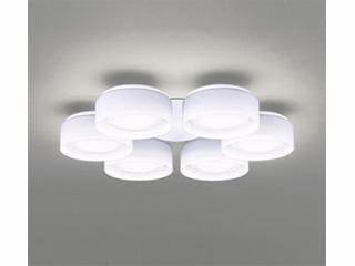 ODELIC シャンデリア灯具【LED・昼白色】(乳白ケシガラス・6灯) WF823ND