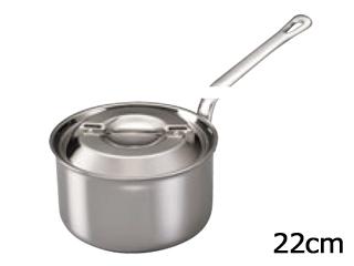 霜龍器物 ステンレス・アルミクラッド プロシード深型片手鍋 22cm