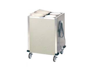日本洗浄機 【代引不可】食器ディスペンサー カート型 保温式 CL26W4H サニストック