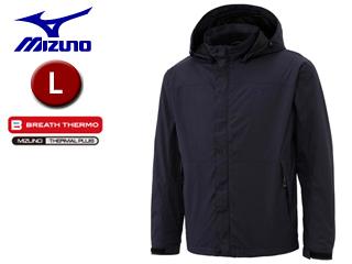 mizuno/ミズノ A2JC6521-14 ブレスサーモ ストレッチフリースジャケット メンズ 【L】 (ドレスネイビー)