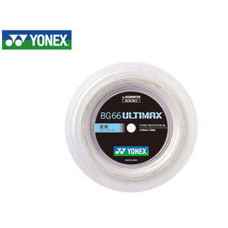 YONEX/ヨネックス BG66UM-2-430 バドミントンストリング BG66 ULTIMAX チーム200 (メタリックホワイト)