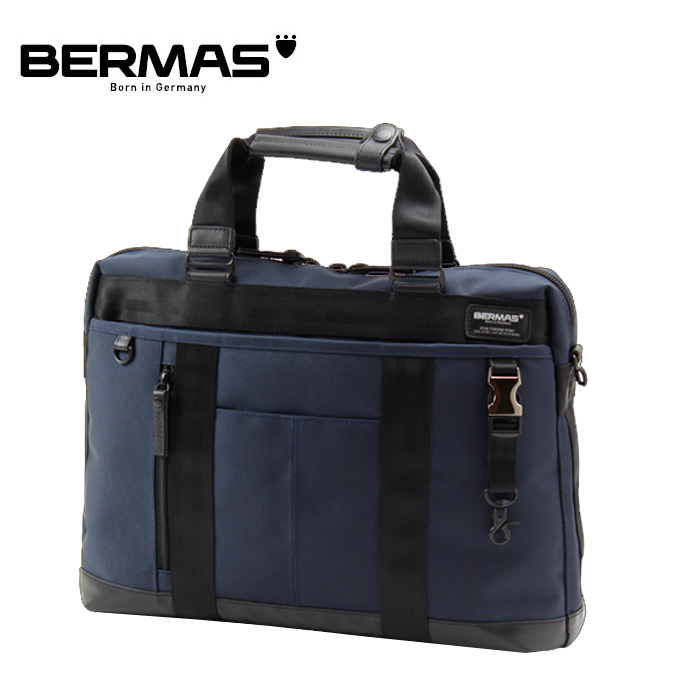 BERMAS/バーマス 60071 BAUER テフロン加工 ビジネスバッグ 1層ブリーフ (ネイビー)