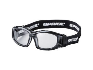 GLASSART/グラスアート 二眼型セーフティゴーグル グレー (度なしレンズ) GP-98-GR