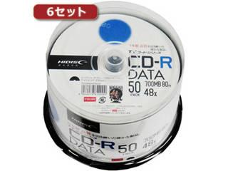 HIDISC/ハイディスク HI DISC 【6セット】 CD-R(データ用)高品質 50枚入 TYCR80YP50SPX6