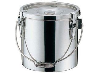 HONMA/本間製作所 18-8 厚底 給食缶 24cm 10.0L