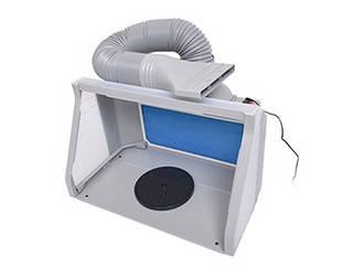 THANKO サンコー 納期8月末以降  Wファンで強力換気!LEDライト付パワフルファン塗装ブース デラックス BRUSHBT5