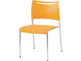 IRIS CHITOSE/アイリスチトセ ミーティングチェアLTS オレンジ 背・座樹脂 LTS4MZOG