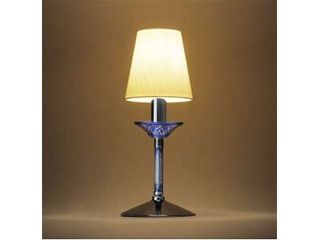 【nightsale】 OLYMPIA/オリンピア照明 KRI001B 切子スタンドライト 青
