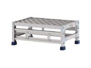 ALINCO/アルインコ 【代引不可】作業台(天板縞板タイプ)1段 天板寸法300×600mm高0.25m CSBC123WS